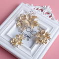 Fashion  Butterfly Wedding Headpiece Gold Bridal Floral Hair Clip Comb Accessories Crystal Pearl