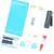 Para a apple iphone 6 + plus kit de reparo de vidro tela de substituição frente oriente quadro moldura branca + uv cola