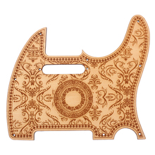 Wood Color Electric Guitar Pickguard Scratch Plate Maple Material w/ Flower Pattern for Telecaster Electric Guitar цены онлайн