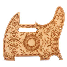 Wood Color Electric Guitar Pickguard Scratch Plate Maple Material w/ Flower Pattern for Telecaster Electric Guitar(China)