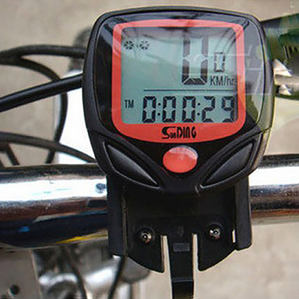 Bike Computer LCD Digital Display Waterproof Bicycle Odometer Speedometer Cycling Stopwatch Riding Accessories Tool