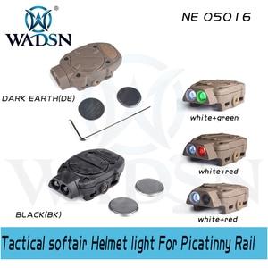 Image 2 - WADSN פרינסטון טקטי softair קסדת אור עבור Picatinny רכבת עם מרחוק מתג אור זנב לבן אדום IR אורות WNE05016