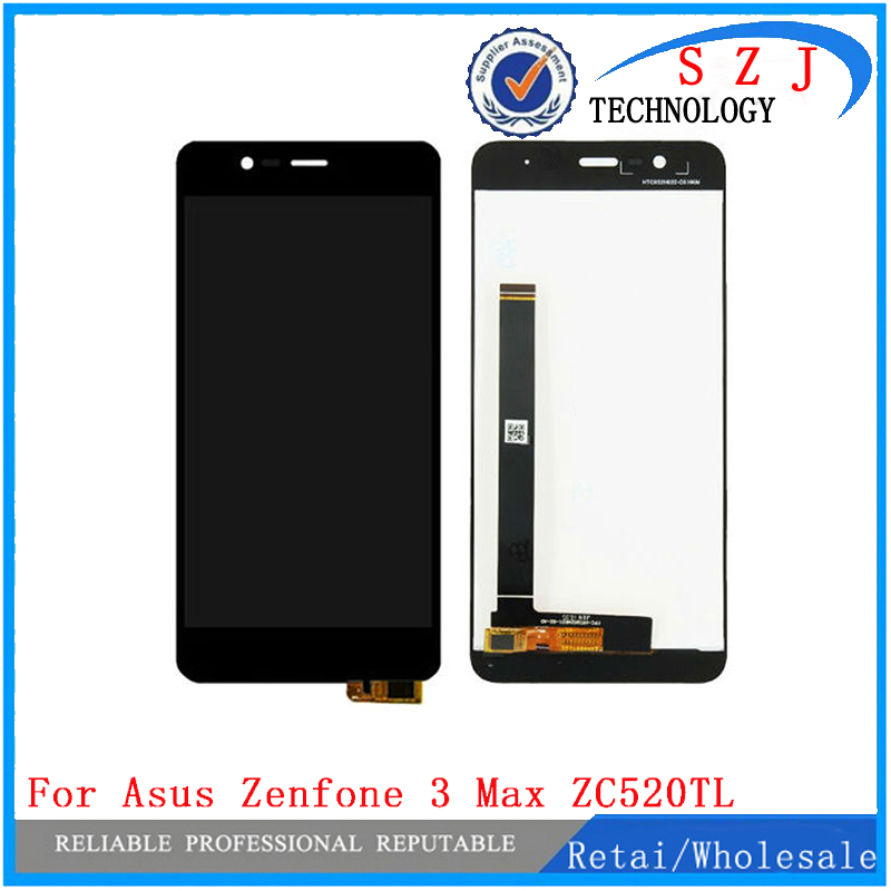 New 5.2'' inch For Asus Zenfone 3 Max ZC520TL X008D LCD Display + Touch Screen Digitizer Glass Assembly Free shipping new 5 5 inch full lcd display touch screen digitizer assembly replacement for asus zenfone 3 zoom ze553kl free shipping