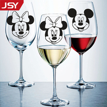 8pcs/set Mickey Minnie Mouse Wall Stickers Kids Room Glass Cups Art Mural Decoration DIY PVC Decals Jiangs Yu