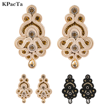 KPacTa New Personality Design Soutache Ethnic Handmade Earrings Jewelry Female Crystal Decoration Drop Earring boucle doreille