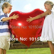 Free Shipping 1 X Red 75cm/30'' Ultralarge Big Heart Shape Balloon Aluminum Foil Wedding Party Decoratio Supply