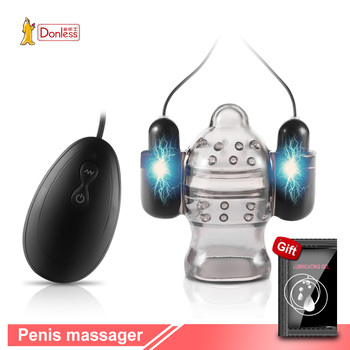 Penis Vibrator Penis Massager Trainer Glans Vibrator Men Sex Toys Enhancement Delay Lasting Erection Adult Male Masturbation
