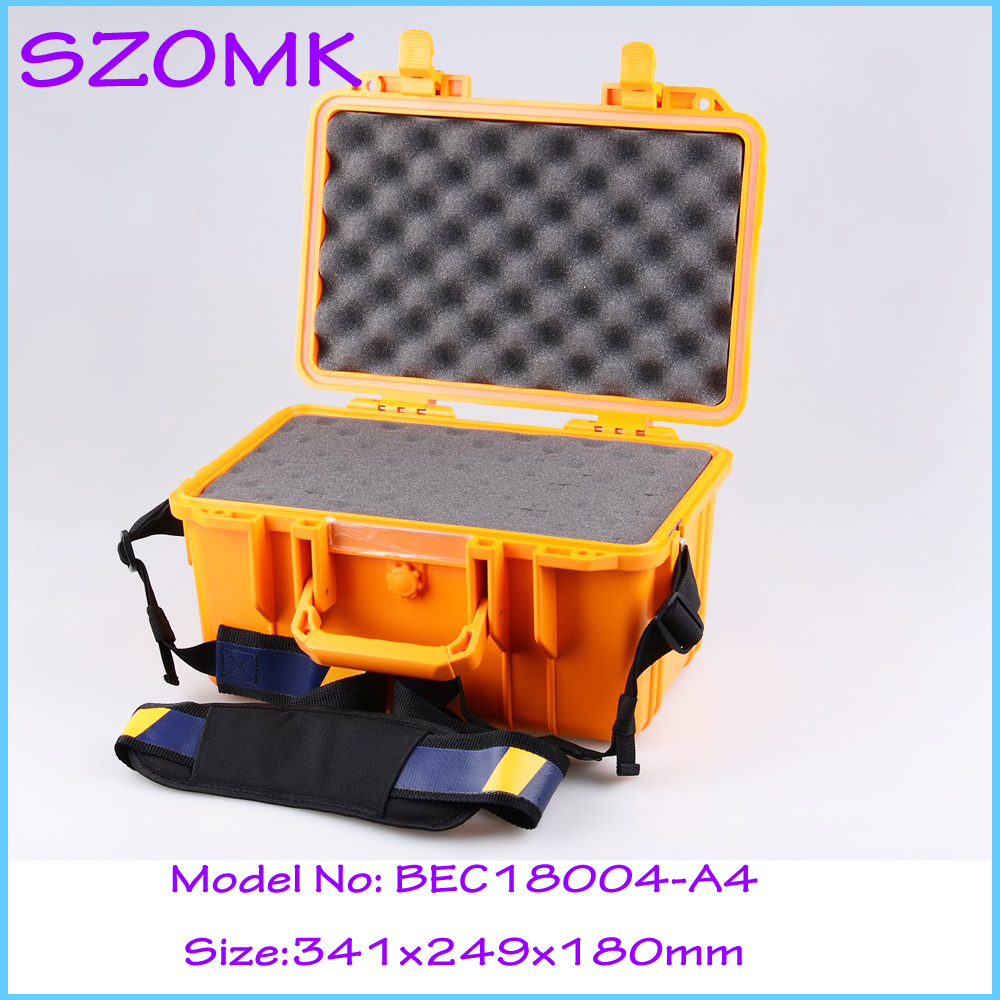 341x249x180 mm IP68 sealed waterproof tool equipments case abs safety portable box military equipment plastic case for tools box