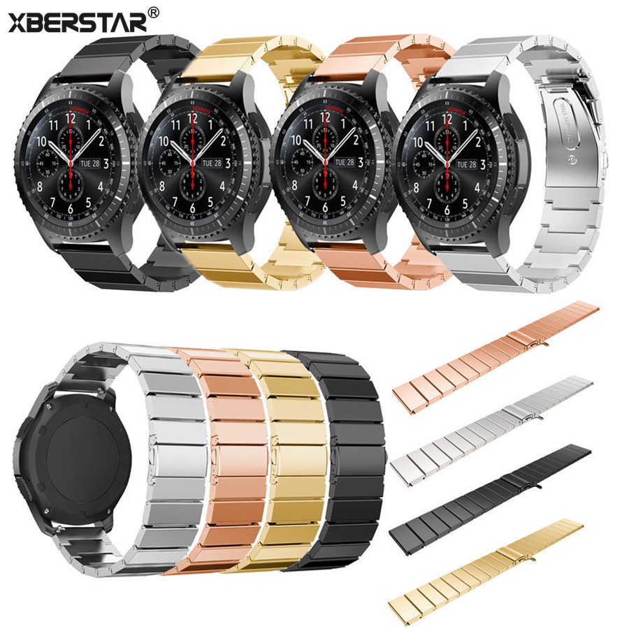 Classic Stainless Steel Wrist Strap For Samsung Galaxy Gear S3 Frontier Band For Samsung Gear S3 Watchband S3  Smart Strap New