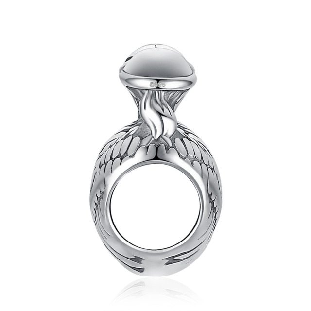 JewelryPalace 925 Sterling Silver Guardian Angel Wing Heart Trendy Jewelry Charm For Mother And Daughter Hot Sale Beautiful Gift