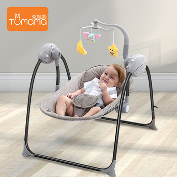 Tumama Baby Steel ABS Eletricスイングロッキングチェアロッカーバウンサークレードルジャンパースイング0-24ヶ月スイング
