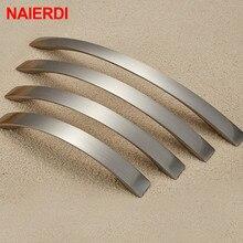 NAIERDI 10 шт. ручки для шкафа, круглая ручка из алюминиевого сплава дверные кухонные ручки для шкафа тянет ящик оборудование для обработки мебели