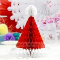 Folding Paper Christmas Hat Decorations Set