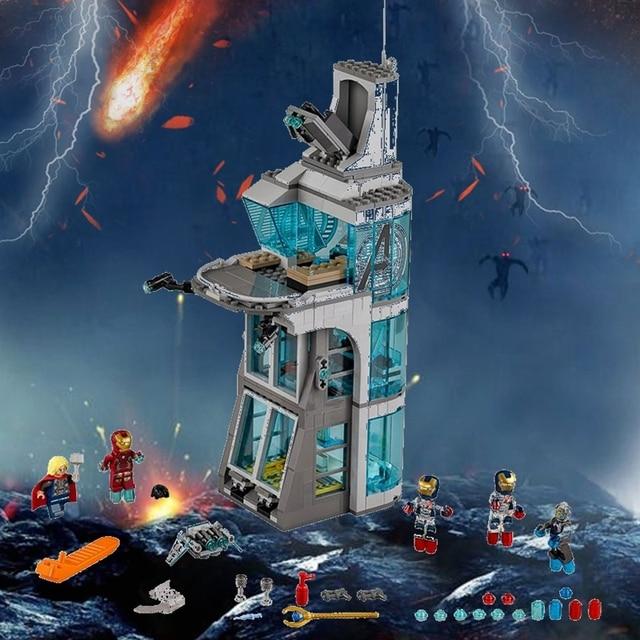 Torre de Ataque em Vingadores Marvel Super Heroes Figuras Homem De Ferro Thor 511 Pcs Building Blocks Toy For Kids
