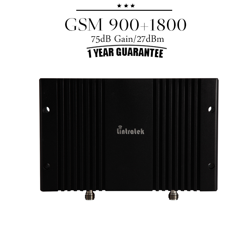 Cover 1000sqf GSM 900mhz 1800mhz Dual Band Mobile Cellular Signal Booster GSM 900 DCS 1800 75dB Gain Cell Amplifier Repeater #29