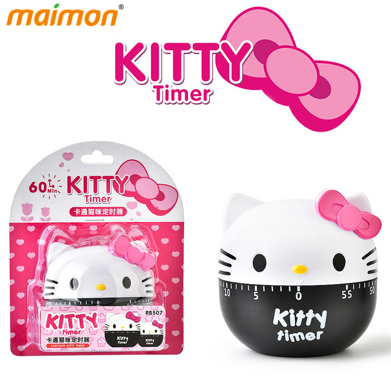 Hello kitty Mechanical Kitchen Cook Cooking Timer alarm clock countdown