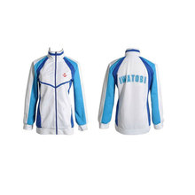 Anime envío! Iwatobi Swim Club Nanase Haruka Cosplay traje chaqueta de abrigo con capucha Unisex High School Sport desgaste para hombre y mujeres