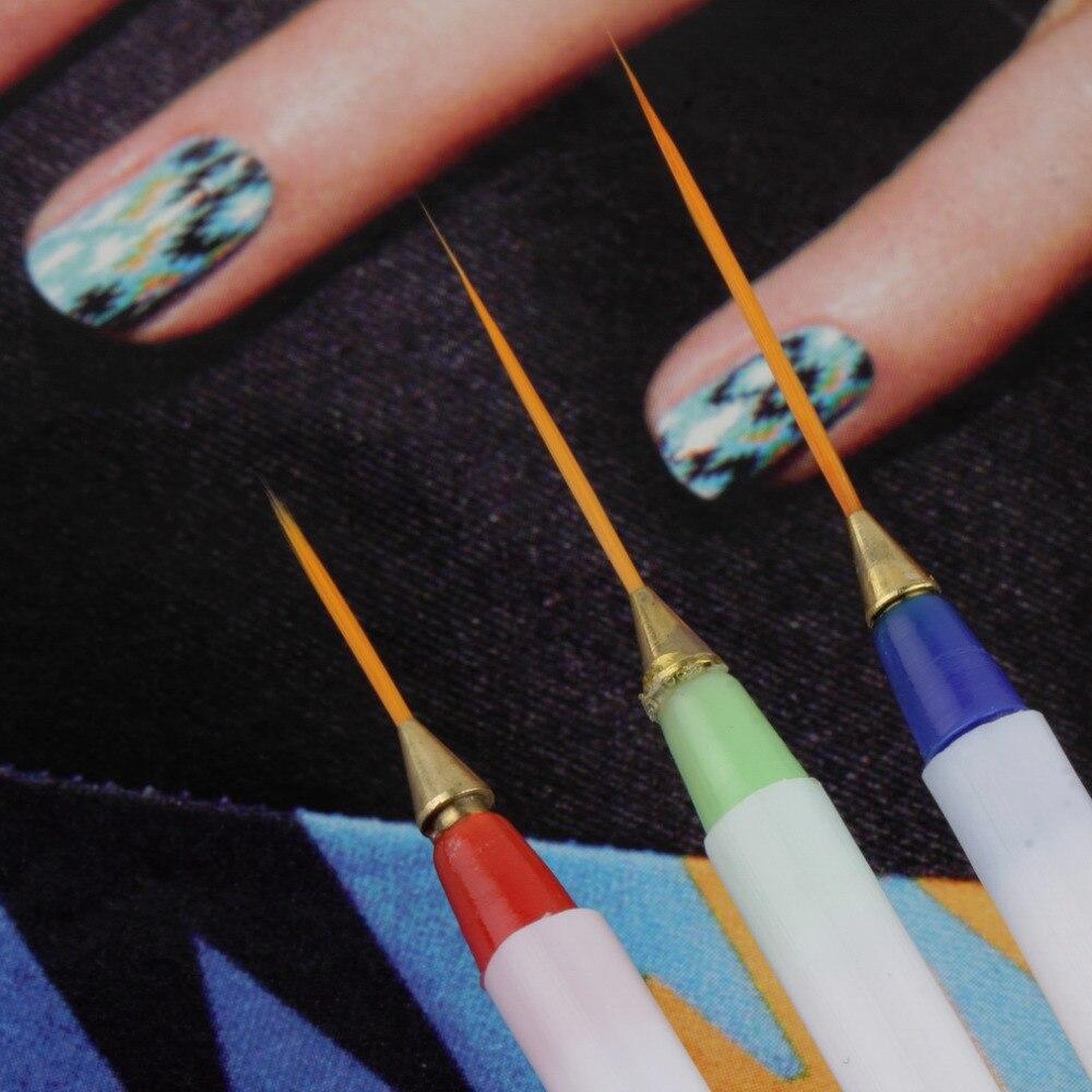 Aliexpress 3pcs Nail Art Design Diy Drawing Painting Striping Gel Pen Brushes Set Dotting Tools Hot Worldwide From Reliable