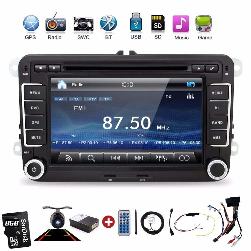 2 Din Car Dvd Player Pc Gps Navigation Stereo Video Multimedia Screen For VW Volkswagen Passat