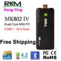 Free shipping RKM MK802IV Quad core Android 4.2 Rockchip RK3188 2G DDR3 16G ROM Bluetooth HDMI TF card [MK802IV/16G/BT]