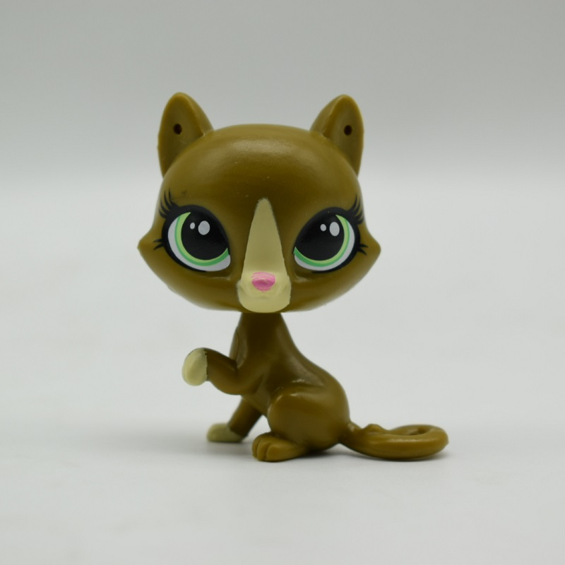 LPS Toy Shop  Sparkle Eyes army green cat Action Figure animal Toys for Children Birthday Gift lps toy bag 25pcs pet shop animals cats puppy kids boy and girl action figures pvc lps toy birthday christmas gift 4 5cm