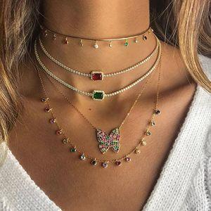 Image 4 - Женское Ожерелье чокер с радужным камнем талисманом