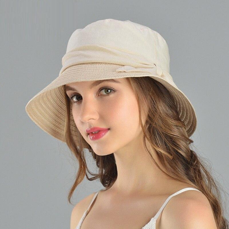 Women's Hats New Products Cotton Linen Outdoor Sun Shading Hats Girls Leisure Suncaps Leisure Holiday Fishermen Hats B 7575