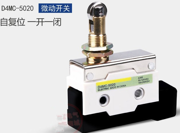 High quality silver dot micro switch D4MC-5020 waterproof type limit switch micro switch tm 1743 high temperature resistence switch limit switch travel switch