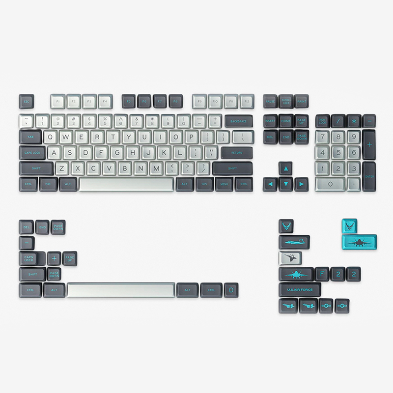 FEDEX DHL FREE SHIPPING IN STOCK SA MAXKEY F22 KEYCAPS KEYCAP SET SA PROFILE цена