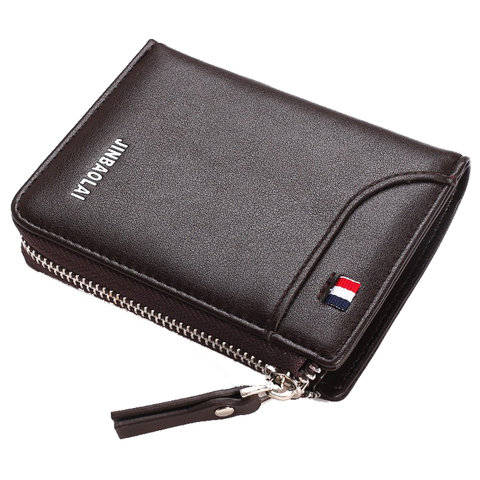 Luxury Brand Men Wallet Leather Credit Card Holder Wallets Zipper Male Coin Pocket Clutch Money Bag Wallets Carteira Masculina Islamabad