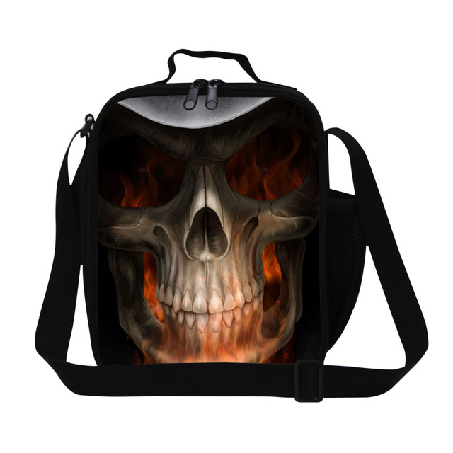 Dispalang Skull insulated lunch bags for boys designer lunch container for kids coolest small lunch cooler bags for men work