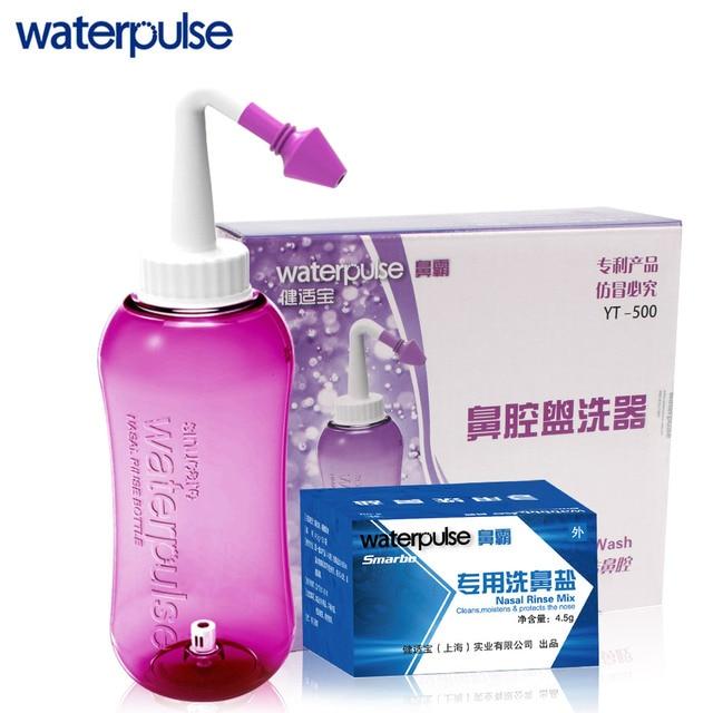 Waterpulse носовые мыть бутылка 500 мл с 30-pack соль комплект носовые промыть смешивания Портативный нос мыть аллергия рельеф уход за нос инструменты