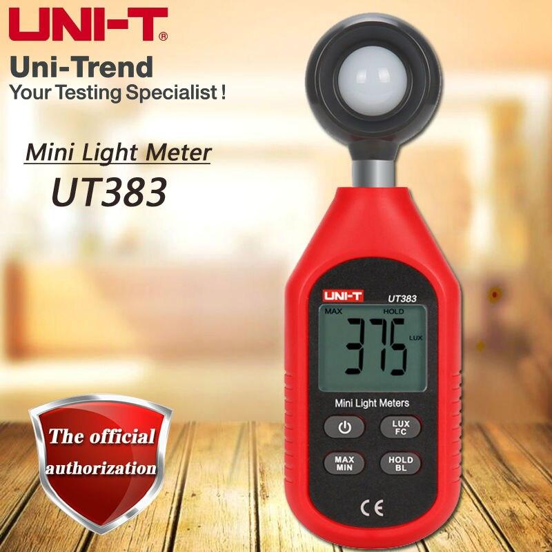 UNI-T UT383 mini light meter / lux meter / digital illuminometer / range 0 ~ 200000lux tenamrs yf 172 lcd display digital lux meter illuminometer light meter