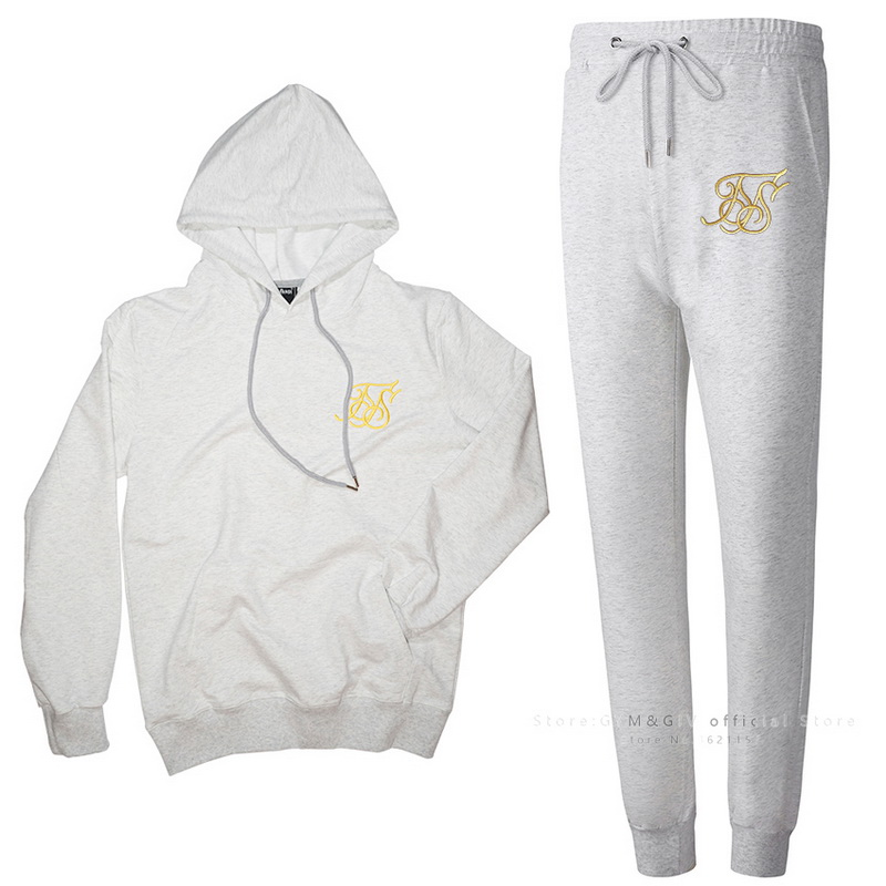 Spring Autumn Hoodie jacket+ joggers sweatpants man Embroidery suits sportwear Tracksuit