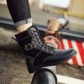 Hombres Botas Otoño nueva moda hombres botas de Cuero de LA PU Caliente venta de algodón de Inglaterra martin botas Zapatos de los hombres Calientes hombres de la Primavera zapatos