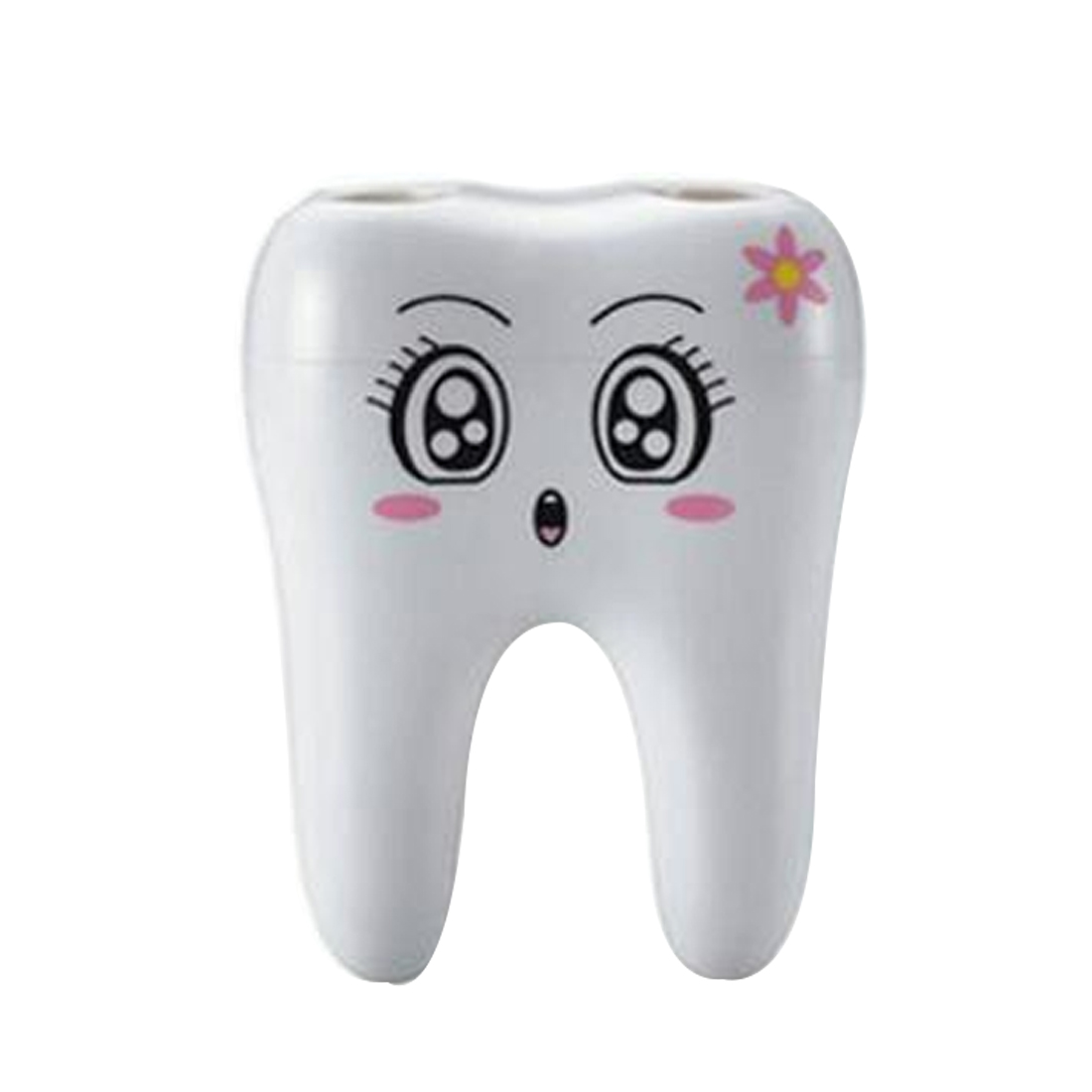 Teeth Style Toothbrush Holder 4 Hole Cartoon Toothbrush Stand Tooth Brush Shelf Bracket Container Bathroom Accessories Set