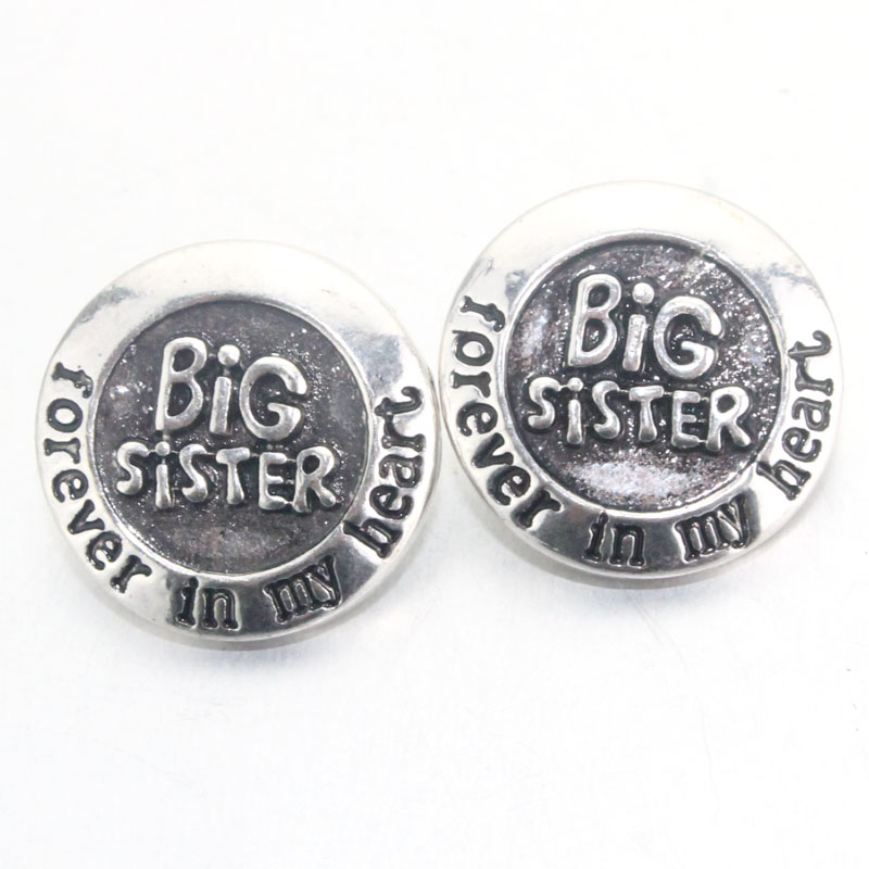 Boom Life big sister 18mm snaps button for bracelet women female carter love bracelet armhand bangle one direction 060917