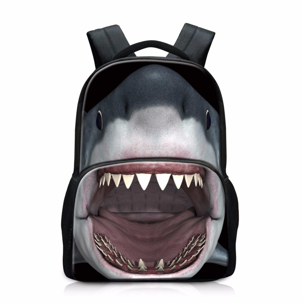 Stylish Shark School backpacks for Boys Cute Animal Printing backpacker magazine Children Lightweight Bookbags Coolest Back Pack rabbit style cashmere style three finger capacitive screen touching hand warmer gloves beige