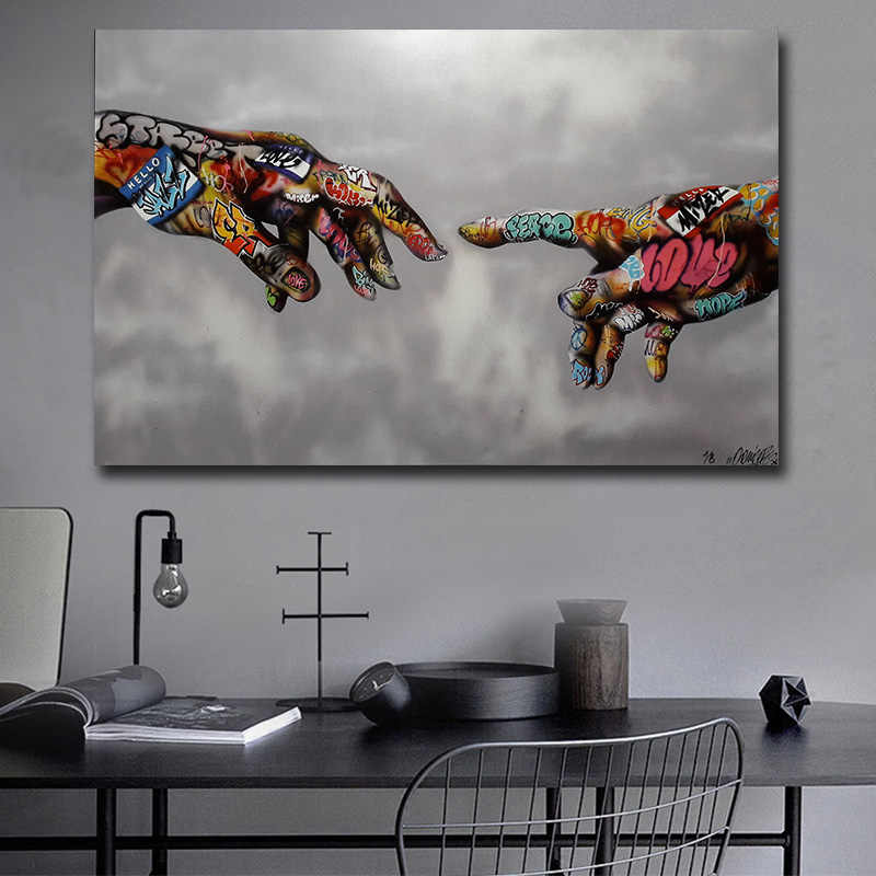 Graffiti Pop Art Poster Print Painting Street Art Urban Art on Canvas Hand Wall Pictures for Living Room  Home Decor
