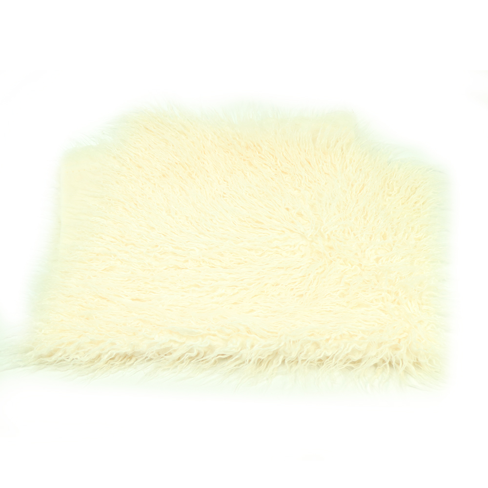 Sample Clearance!Size 75x50cm Soft Long Pile Mongolia Faux Fur Baby Photography Props Newborn photo Blanket