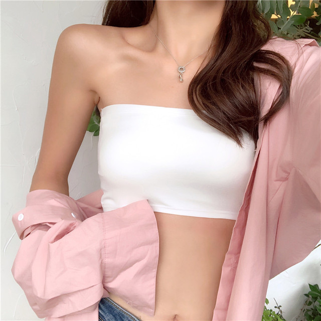 Women Crop Top Camis Black White Summer Blouse Clothes Tube Top Fashion Short Tank Tops Ladies Casual Polyester & Cotton 2