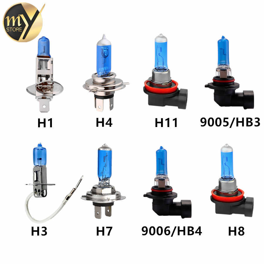 12V 55W H1 H3 H4 H7 H8 H9 H11 HB3 9005 HB4 9006 Halogen Bulbs Car Headlight Lamp White Auto HeadLamp
