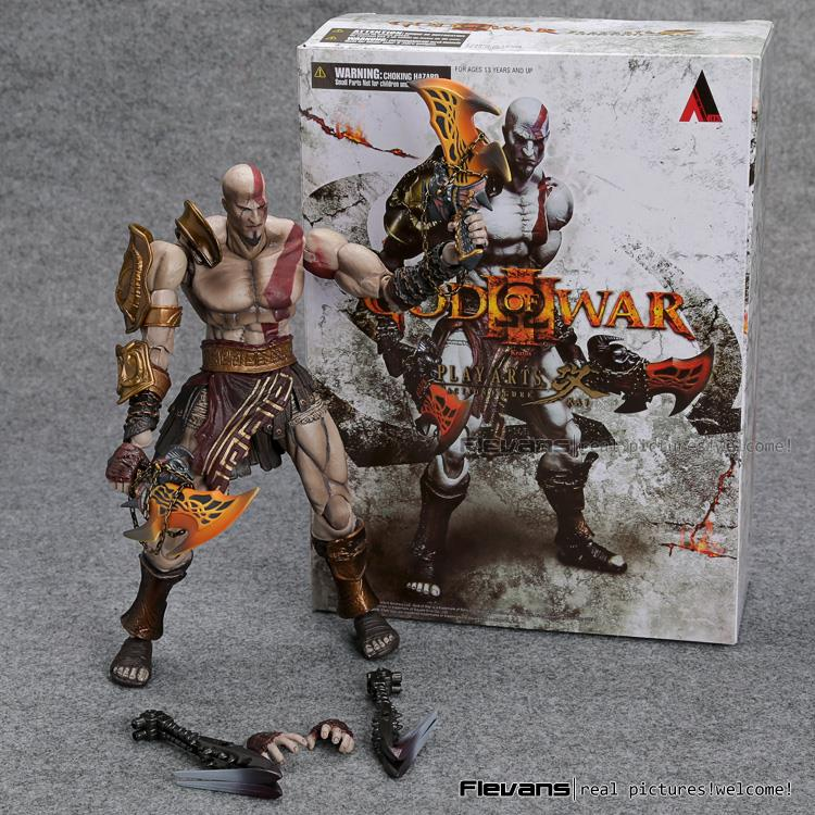 SQUARE ENIX PlayArts KAI God of War Kratos PVC Action Figure Collectible Model Toy 22cm MVFG358 shfiguarts batman injustice ver pvc action figure collectible model toy 16cm kt1840
