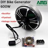 Gerador de ímã permanente sem escova da terra rara da baixa velocidade máxima 600w/gerador da bicicleta/gerador de emergência/gerador de diy