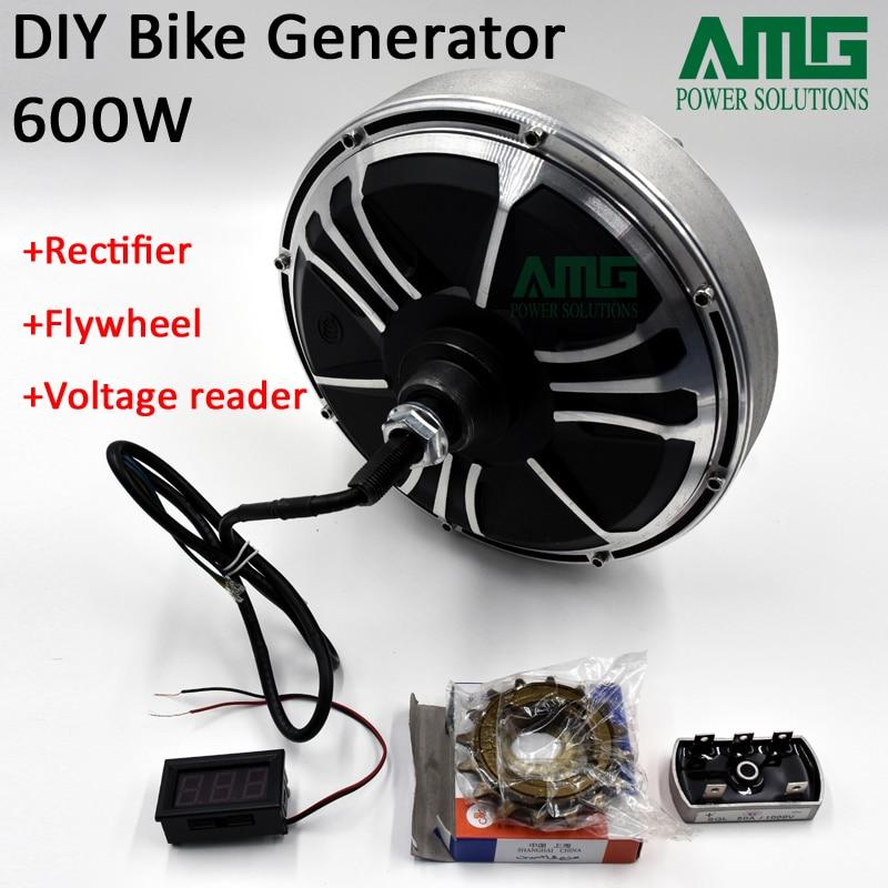 e01903a1755 Max 600 w baixa velocidade sem escova de terra rara gerador de imã  permanente bike emergência gerador DIY em Geradores de Energia alternativa  de ...
