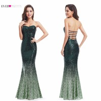 Long Sparkle Evening Dresses Ever Pretty Ombre 2017 New Gorgeous Long Elegant XXGD1007PEC Sequin Mermaid Party