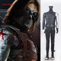 Winter Soldier James Buchanan Barnes de disfraces de adultos Cosplay Traje de Capitán América 2 Winter Soldier Superhéroe Cosplay Traje