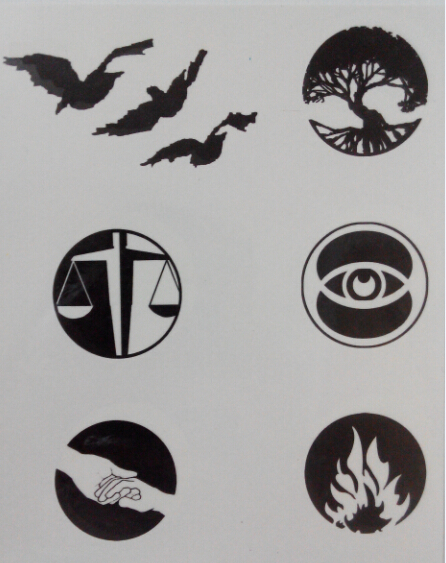 divergent symbols and meanings - 446×563
