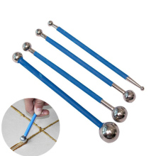 4 шт./компл. двойной стальной прессованные мяч для плитки ремонт палка керамические плитки для пола Затирка клей gap выскабливание строительные инструменты