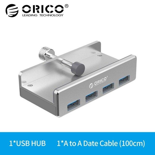 ORICO алюминиевый 4 порта USB 3,0 клип-тип концентратор для настольного ноутбука клип диапазон 10-30 мм (MH4PU)